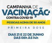 Campanha de vacinação contra COVID-19 para pessoas acima de 50 anos