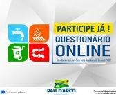 Participe do Questionário Online da Elaboração do PMSB
